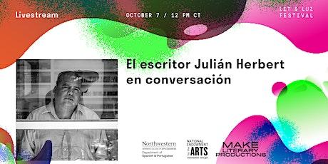 Lit & Luz: El escritor Julián Herbert en conversación tickets