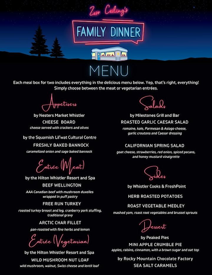 Zero Ceiling's Family Dinner Fundraiser image