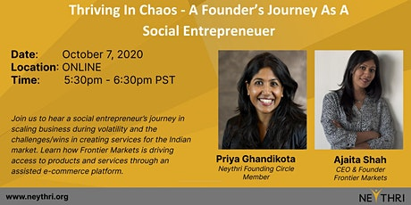 Thriving In Chaos - A Founder's Journey As A Social Entrepreneur tickets