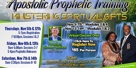 Ministering Spiritual Gifts (MSG) - Modules 1-4 (Onsite & Virtual Training) tickets