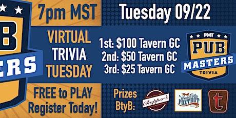 Virtual Trivia Tuesday w/ Pub Masters - THG - FREE to Play tickets
