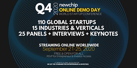 Newchip Accelerator Online Demo Day World Startup Conference Q4 - 2020_FBRH tickets