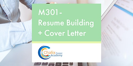 M301- Resumé Building & Cover Letter tickets