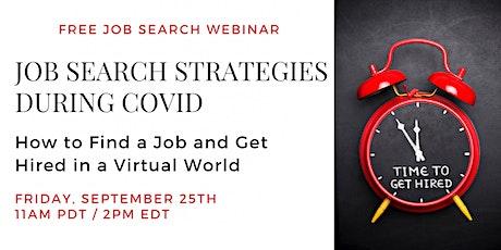 Job Search Strategies During COVID: Free Webinar tickets