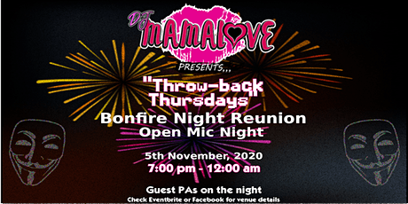 A Bonfire Night Reunion Open Mic Night tickets
