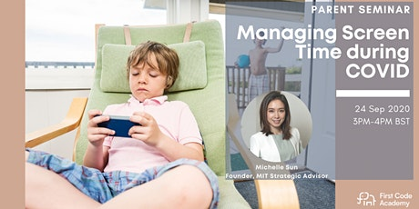 Parent Webminar: Managing Screen Time during COVID tickets