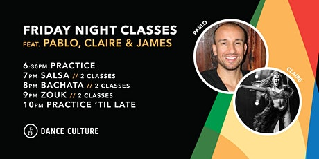 Friday Night Classes feat. Pablo & Claire // Salsa, Bachata & Zouk tickets