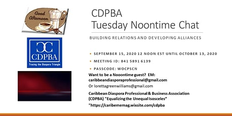 Linkedin's CDPBA Noonday Chat tickets