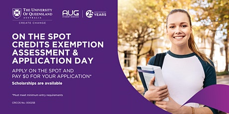 The University of Queensland Application Day tickets