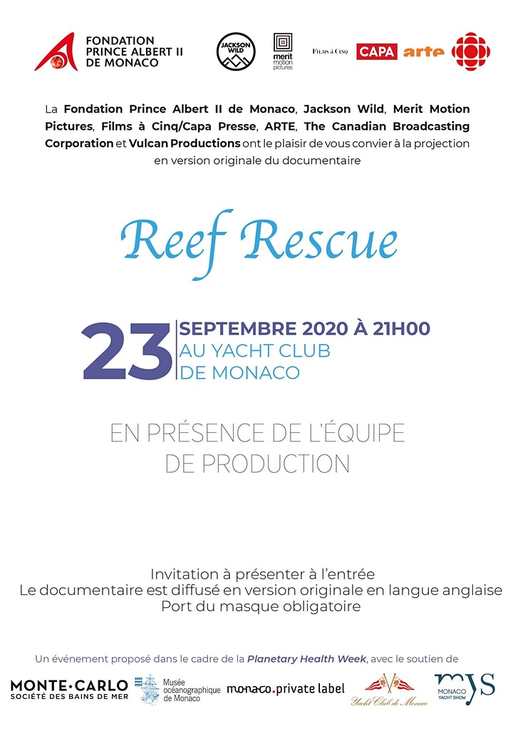 "Image pour Projection du documentaire ""Reef Rescue"""