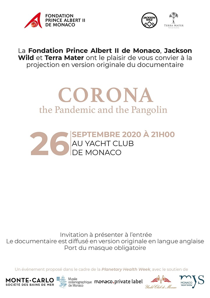 "Image pour Projection du documentaire "" Corona: the Pandemic and Pangolin """