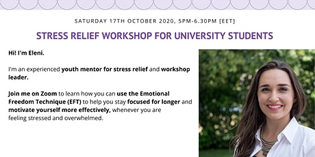 Stress Relief Workshop for University Students Tickets