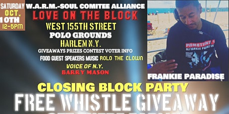 Love on the block party dj Frankie Paradise tickets