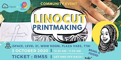 Linocut Printmaking Community Class tickets