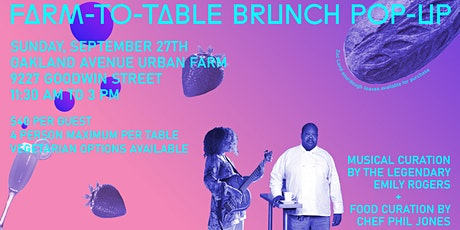 Farm to Table Brunch Pop Up - Fundraiser tickets