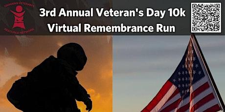 3rd Annual OVRN Veteran's Day 10k (Virtual Remembrance Run) tickets