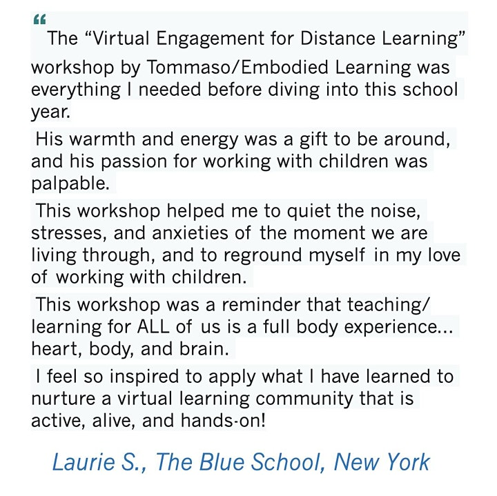 Virtual Engagement for Remote Learning – ECE Professionals (ages 3-8) image