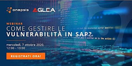 Come gestire le vulnerabilità in SAP? biglietti