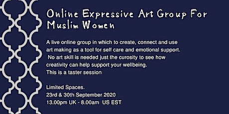 Wellness At Home: Online Expressive Art Group - Muslim Women tickets