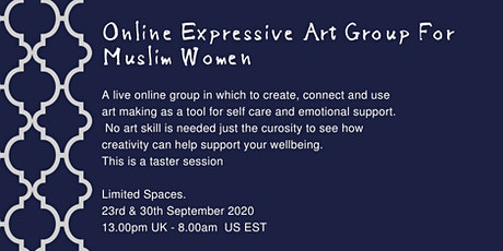 Wellness at Home  -  Free Online Expressive Art Group For Muslim Women tickets