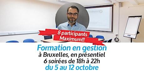 Formation accélérée en gestion de base (6 soirées sur 8 jours à Bruxelles) tickets