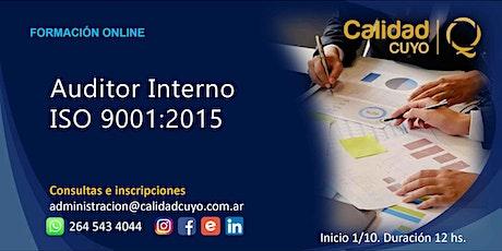 AUDITOR INTERNO ISO 9001:2015 entradas