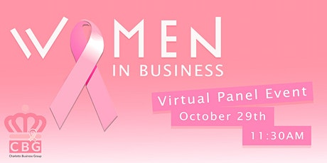 Women in Business, CBG October Virtual Panel Event tickets