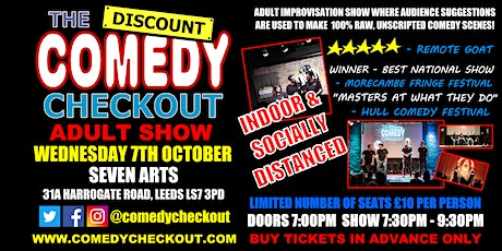 Adult Comedy Show at Seven Arts Leeds - Weds 7th October tickets