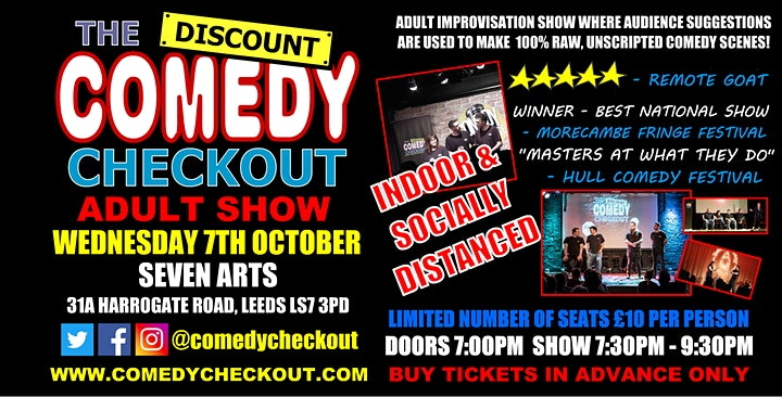 Adult Comedy Show at Seven Arts Leeds - Weds 7th October image