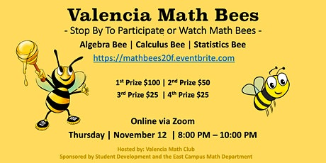 Valencia Math Bees - 11/12/20 tickets