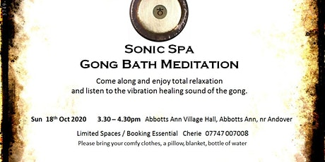Sonic Spa Gong Bath Meditation (Session 2) - 18th October 2020 tickets