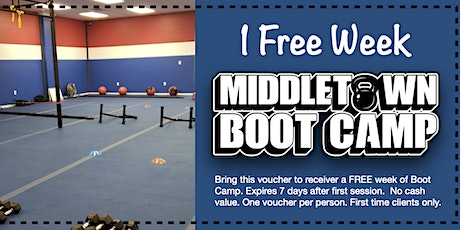FREE WEEK OF BOOT CAMP!! tickets