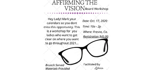 Affirming the Vision Workshop tickets