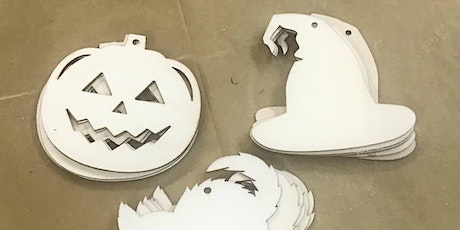 Walk-In Halloween wood cut out paint class for kids tickets