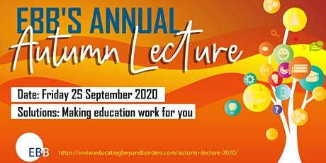 EBB's Annual Autumn Lecture 2020 tickets