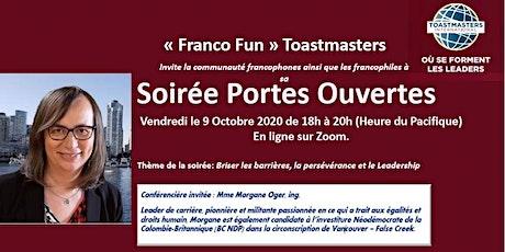 Portes Ouvertes « Franco Fun » Toastmasters billets