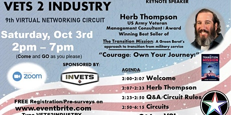 VETS2INDUSTRY Virtual Networking Circuit #9 tickets