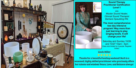 Sound Healing Therapy Certification Intensive Training, Level 1 tickets