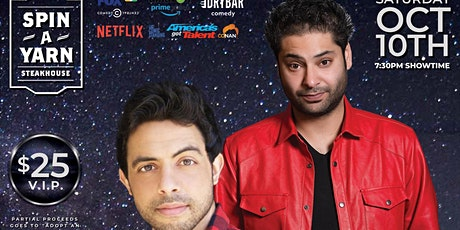 "Spin a Yarn Presents ""Comedy Under the Stars Kabir Singh and Sammy Obeid. tickets"
