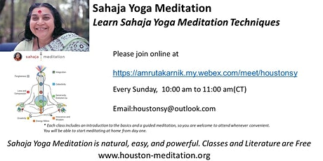 Learn Sahaja Yoga Meditation Technique tickets