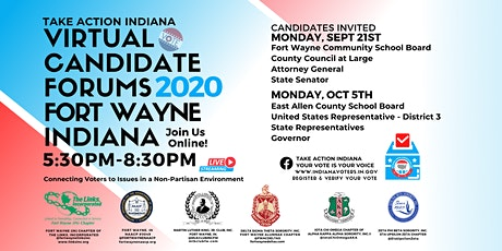 Virtual Candidates' Forums 2020 Fort Wayne, Indiana tickets