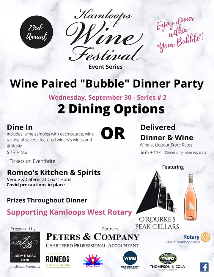 """Kam Wine Festival #2  Wine Paired """"Bubble"""" Dinner Party - DELIVERED OPTION image"""