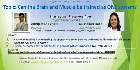 REHAB WEBINAR: Can the Brain and Muscle be trained as ONE system? tickets