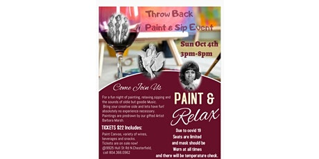 Paint & Sip Throw Back tickets