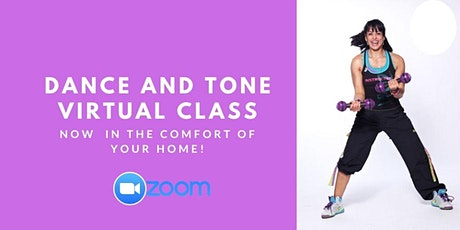 Dance and Tone Virtual Class. All levels welcomed. tickets