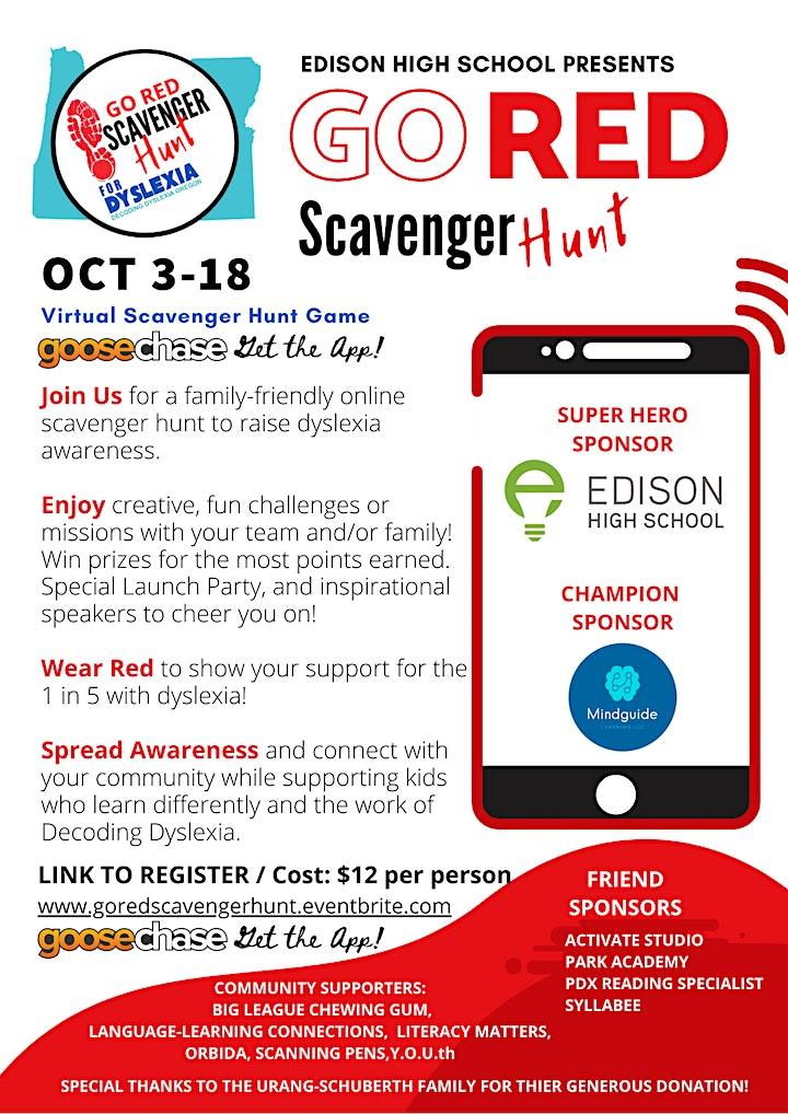 Edison High School Presents: Go RED Scavenger Hunt image