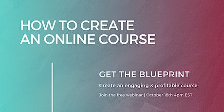 How to Create an Online Course tickets