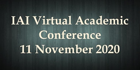 International VIRTUAL Academic Conference  November 11,  2020 tickets