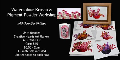 Watercolour Pigment Powder, Brusho & Embossing Workshop tickets