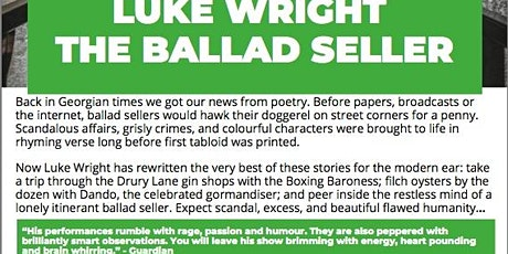 LUKE WRIGHT SPOKEN WORD POET PERFORMANCE tickets